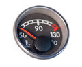 Low temperature on dashboard indicator Royalty Free Stock Photo