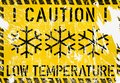 Low temperature, frost, winter warning sign,vector
