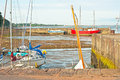 Low tide at avoch the harbor on the east coast of scotland Royalty Free Stock Photo