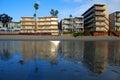 Low tide beach front at Sleepy Hollow, Laguna Beach, California. Royalty Free Stock Photo