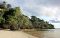 Low tide on the Bulabog Beach Royalty Free Stock Photo