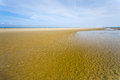 Low tide on English Channel coast Royalty Free Stock Photo