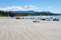 Low tide on the Long Beach. Vancouver Island, Canada Royalty Free Stock Photo