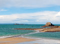 Low tide in St-Malo, France Royalty Free Stock Images