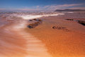 Low tide at the swartvlei river mouth near sedgefield south africa Stock Photos