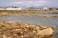 Low tide in troon scotland Royalty Free Stock Photos