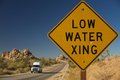 Low Water Xing Sign Royalty Free Stock Photography