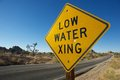 Low Water Xing Sign Royalty Free Stock Images