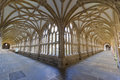 Low wide angle view cloisters wells cathedral wells somerset uk Stock Images