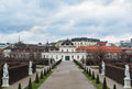 Lower belvedere palace vienna building was completed in the year in austria Stock Images
