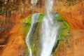 Detail of Lower Calf-Creek Falls in Escalante National Monument, Utah Royalty Free Stock Photo