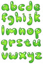 Lower case eco bubble alphabet Royalty Free Stock Photography