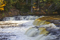 Lower falls tahquamenon in michigan s upper peninsula Royalty Free Stock Photo