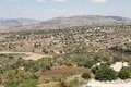 Lower galilee western landscape from the zippori hill israel Royalty Free Stock Photo