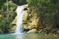 Limon waterfall, Dominican Republic Royalty Free Stock Photo