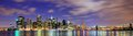 Lower manhattan from across the east river in new york city Stock Image