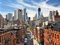 Lower manhattan cityscape in new york city Royalty Free Stock Photography