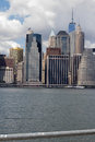 Lower Manhattan and East River Royalty Free Stock Photo