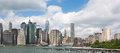Lower Manhattan Skyline, NYC, USA Royalty Free Stock Photo