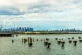 Lower Manhattan skyline seen from Staten Island Royalty Free Stock Photo
