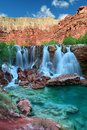 Navajo Falls in Havasupai Indian Reservation in Arizona, USA Royalty Free Stock Photo