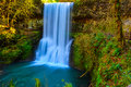 Lower South Falls, Silver Falls State Park, Oregon Royalty Free Stock Photo