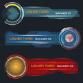 Lower third banners set of vector modern contemporary tv bottom Royalty Free Stock Image