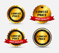 Lowest Price Label Set Vector Illustration Royalty Free Stock Photo