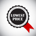 Lowest Price Label Vector Illustration Royalty Free Stock Photo