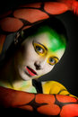 Lowkey bodypainting Royalty Free Stock Images