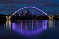 Lowry Avenue Bridge with Purple Lighting in Minneapolis Royalty Free Stock Photo