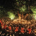 Loy Krathong festival in Chiangmai Stock Photos