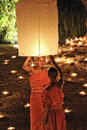 Loy Krathong festival in Chiangmai Royalty Free Stock Photos