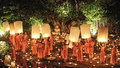 Loy Krathong festival in Chiangmai Stock Photo