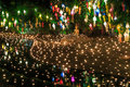 Loy krathong festival at wat phan tao in chiang mai province of thailand Royalty Free Stock Image