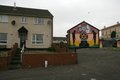 Loyalist murals on Hopewell Crescent, Lower Shankill, Belfast Royalty Free Stock Photos