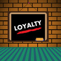 Loyalty abstract colorful illustration with the word written on a blackboard Stock Photography