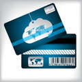 Loyalty card with cloud and striped background Royalty Free Stock Photo