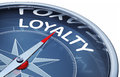 Loyalty d rendering of a compass with a icon Stock Photos
