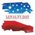 Loyalty day an abstract illustration on Royalty Free Stock Image
