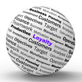 Loyalty sphere definition shows honest fidelity showing integrity and reliability Stock Photos