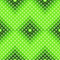 Lozenges seamless pattern. Modern UFO green colored geometric tile texture Royalty Free Stock Photo