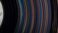 Lp record grooves colorful spinning Stock Image
