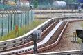 LRT Tracks Royalty Free Stock Photo