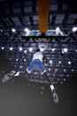 LUANDA/ANGOLA 16 MAY 2015 - African basketball player to score o Royalty Free Stock Photo