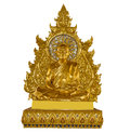 Luang pu boon ma buddha statue on white background Stock Photos