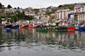 Luarca fishing harbor, Asturias, Spain Stock Photography