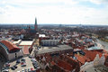 Lubeck aerial view on the old center of schleswig holstein germany Royalty Free Stock Image