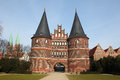 Lubeck holsten gate old town schleswig holstein germany Royalty Free Stock Images