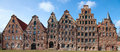 Lubeck the salzspeicher salt storehouses of lübeck germany are historic brick buildings on the upper trave river next to the Royalty Free Stock Images